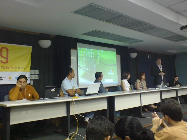 Esteban Clua (UFF), Maria das Graças Chagas (PUC-Rio), Anibal Menezes (Image Campus – Argentina), Critian Arias (Escuela de Artes Digital – Peru), Paulo Figueiredo (CCAA, UFF), Franciele Pessin (Hoplon) e Bárbara Barroso (Portugal)